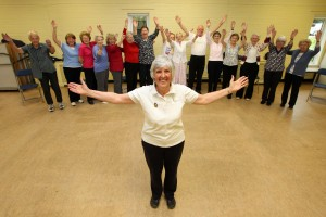 Diana Seller, partner of Knebworth Physiotherapy Clinic, with her class
